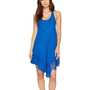 Free People Royal blue asymmetrical racer back S